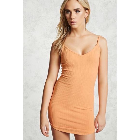 Orange tank dress - small